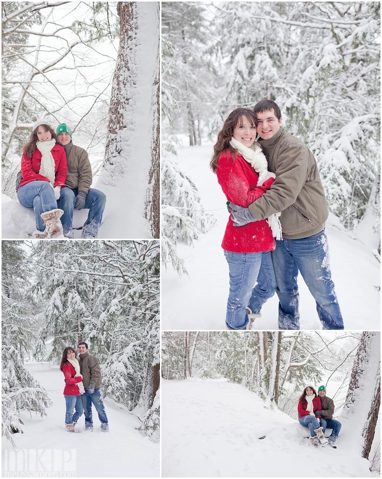 Unique Winter Engagement Photos exeter winter e...