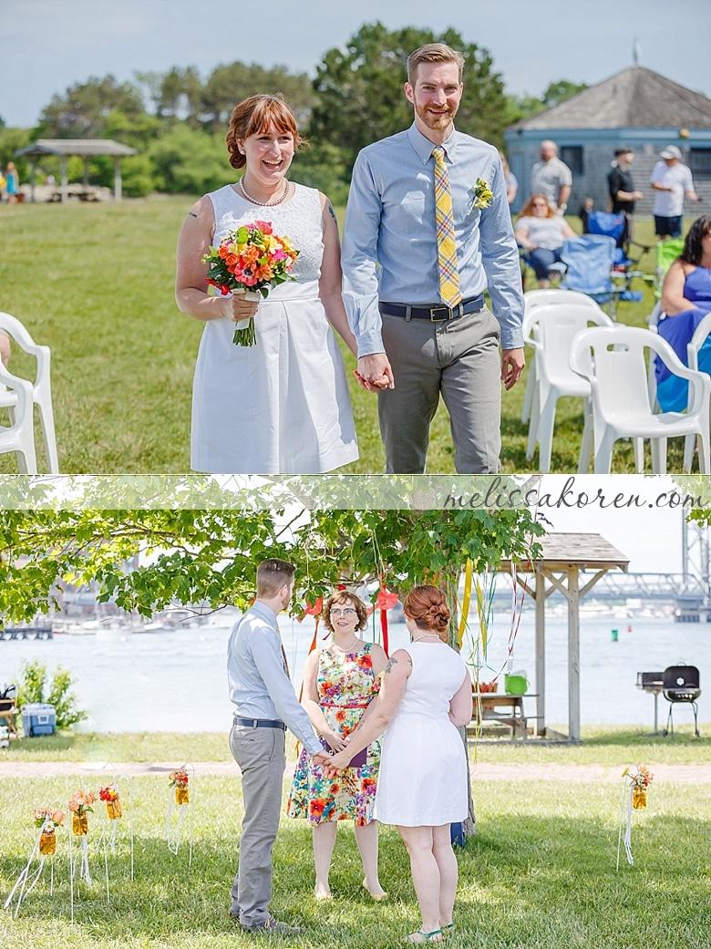 four tree island summer wedding