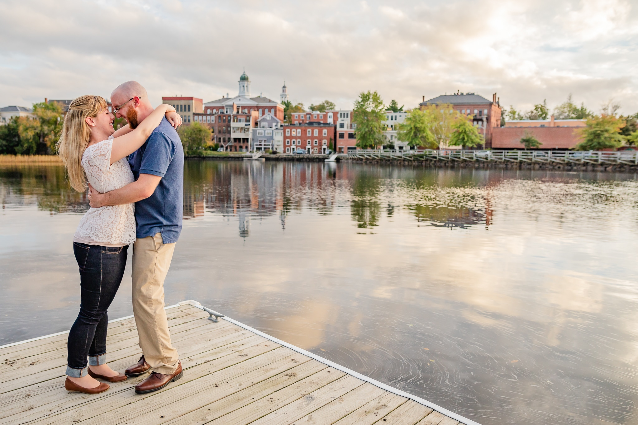 Engagement photos in Exeter NH - Sunset Engagement Session - Exe