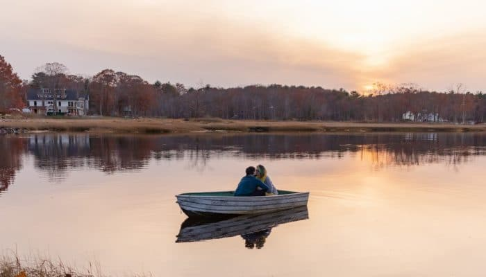 Odiorne Point Boat Launch Sunset NH Engagement Session