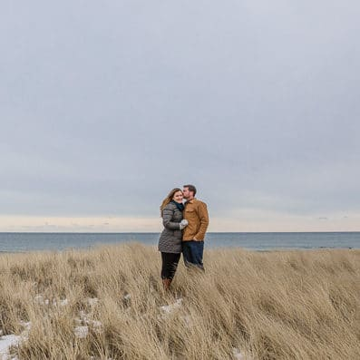 hampton nh winter engagement