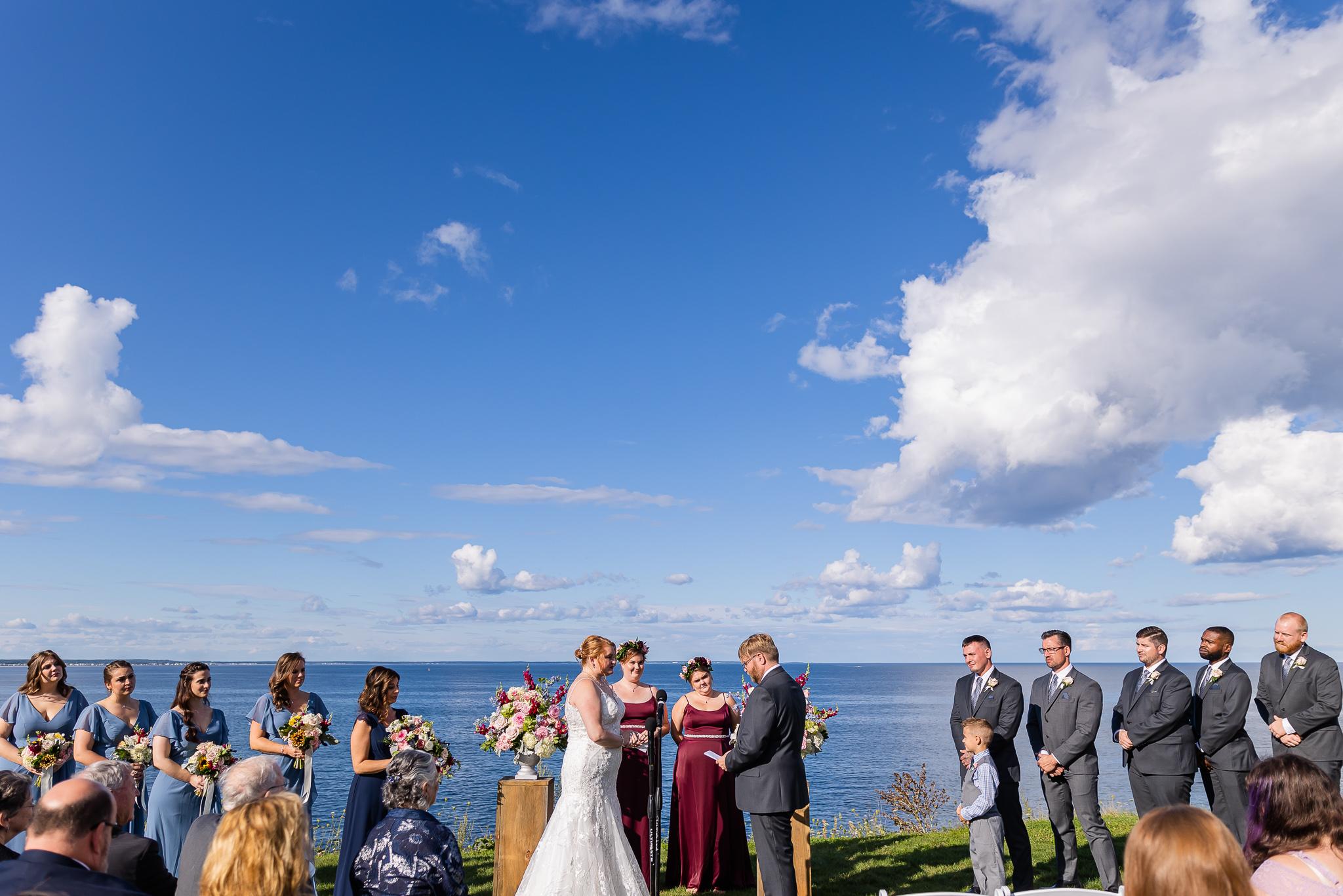 Summer Cliff House Wedding