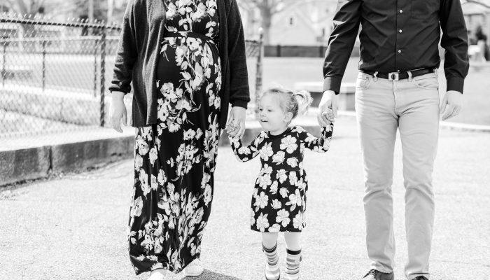 Portsmouth NH Spring Maternity Session + Newborn Photos